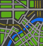 Vector map of city Royalty Free Stock Images