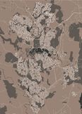 Map of the city of Canberra, Australian Capital Territory, Australia royalty free illustration