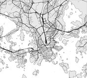 Map of the city of Helsinki, Finland. Vector map of the city of Helsinki, Finland Royalty Free Stock Photo