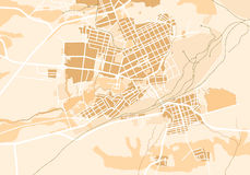 Vector Map of The City II Stock Image