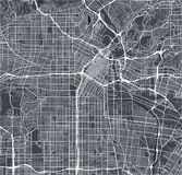Map of the city of Los Angeles, USA. Vector map of the city of Los Angeles, USA Stock Photos