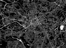 Map of the city of Manchester, England, Great Britain. Vector map of the city of Manchester, England, Great Britain royalty free illustration