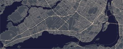 Map of the city of Montreal , Canada vector illustration