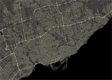 Map of the city of Toronto, Canada. Vector map of the city of Toronto, Canada Stock Photography