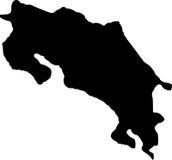 Vector map of costa rica
