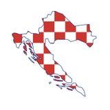 Vector map Croatia Royalty Free Stock Photo