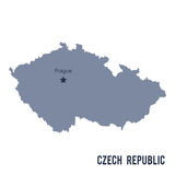 Vector map of Czech Republic isolated on white background. Royalty Free Stock Photo