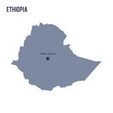 Vector map of Ethiopia isolated on white background. Stock Images