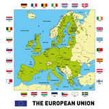 Vector map of The European Union Stock Photography