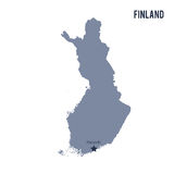 Vector map of Finland isolated on white background. Stock Image