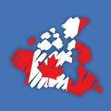 Vector map-flag Canada Stock Photography