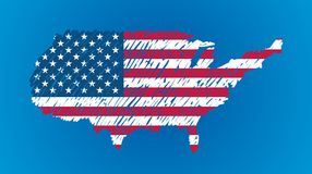 Vector map flag of the USA Royalty Free Stock Photography