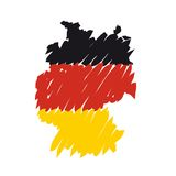 Vector map Germany Stock Photography