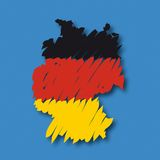 Vector map Germany Stock Photos