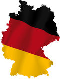 Vector map of Germany. Vector illustration of a map and flag from Germany vector illustration