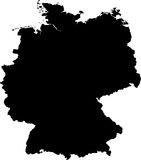 Vector map of germany Stock Photography