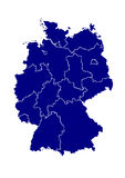 Vector map of germany Royalty Free Stock Images