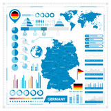 Vector map of Germany and infographic elements collection Royalty Free Stock Photography