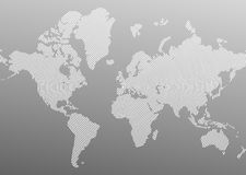 Vector map gray Royalty Free Stock Photos