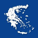 Vector map Greece Stock Image
