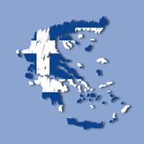Vector map Greece Stock Photos