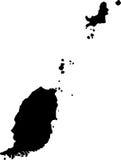 Vector map of grenada Royalty Free Stock Photo