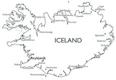 Vector map of Iceland Royalty Free Stock Photography