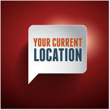 Vector map icon with Pin Pointer Royalty Free Stock Photo