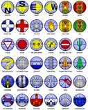 Vector map icons Stock Images