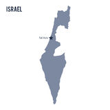 Vector map of Israel isolated on white background. Stock Photos