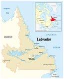 Vector map of Labrador in Canada Royalty Free Stock Photos