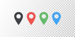 Vector map location colorful icon isolated on transparent background with soft shadow. Element for design ui app website interface.  royalty free illustration