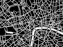 Vector map of London Stock Image