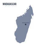 Vector map of Madagascar isolated on white background. Travel Vector Illustration Royalty Free Stock Images