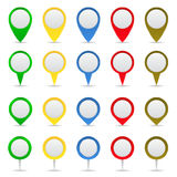 Vector Map Markers Stock Image