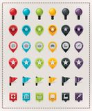 Vector map markers set vector illustration
