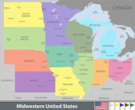 Midwestern United States Royalty Free Stock Image
