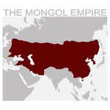 Map of the mongol Empire. Vector map of the mongol Empire royalty free illustration