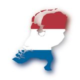 Vector map Netherlands royalty free stock photography