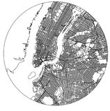 Map of the New York City, NY, USA. Vector map of the New York City NY Manhattan, USA Royalty Free Stock Photography