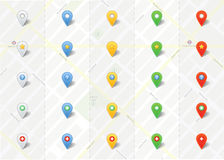 Vector Map Pins Pointer vector set Stock Image