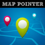 Vector map pointer. Isolated from background, layered Royalty Free Stock Photo