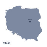 Vector map of Poland isolated on white background. Stock Images