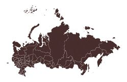 Russia map. stock illustration