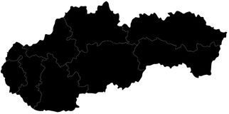 Vector map of Slovakia Royalty Free Stock Image