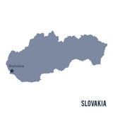 Vector map of Slovakia isolated on white background. Stock Photos