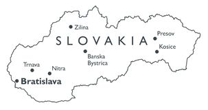 Vector map of Slovakia Stock Images