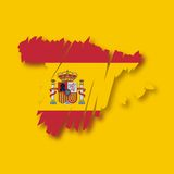 Vector map Spain Royalty Free Stock Image