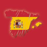 Vector map Spain Stock Image