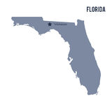Vector map State of Florida isolated on white background. Stock Photo